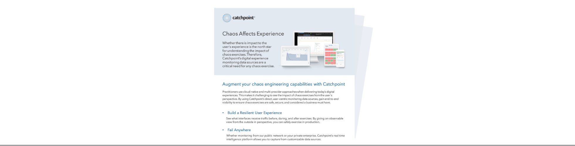 Chaos DataSheet Landing Page Image with line