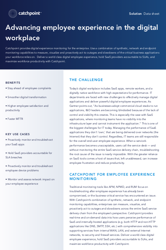 Advancing employee experience in the digital workplace